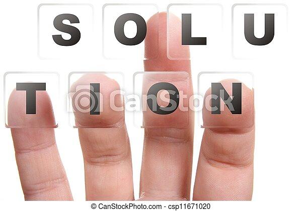 ujjak, gombok, solotion, sajtó, egy - csp11671020