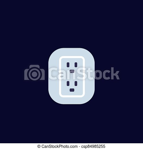 uk, british socket icon, vector - csp84985255