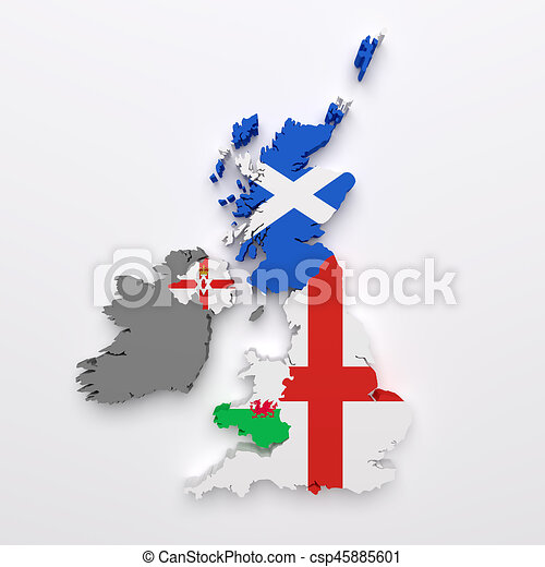 Uk Map Of Countries.Uk Countries Map And Flags