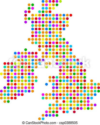 uk dot map - csp0388505