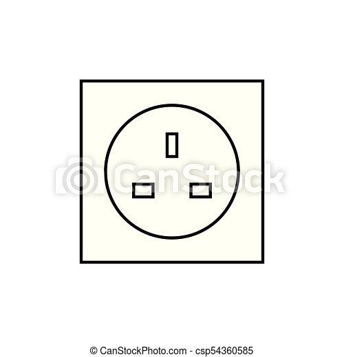 UK electric pocket icon - csp54360585
