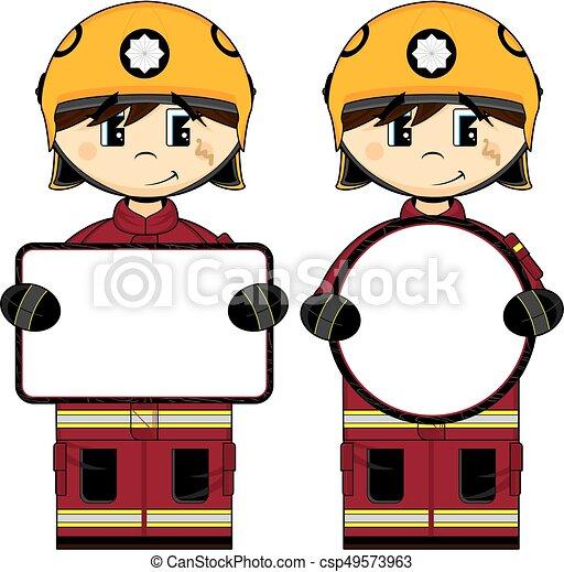 uk fireman with sign cute cartoon fireman firefighter clip art rh canstockphoto com fireman clip art free fireman clip art firefighters