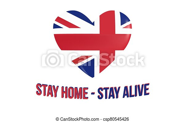 Uk Heart And Inscription Stay Home Stay Alive United Kingdom Heart And Inscription Stay Home Stay Alive