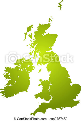 uk map green - csp0757450