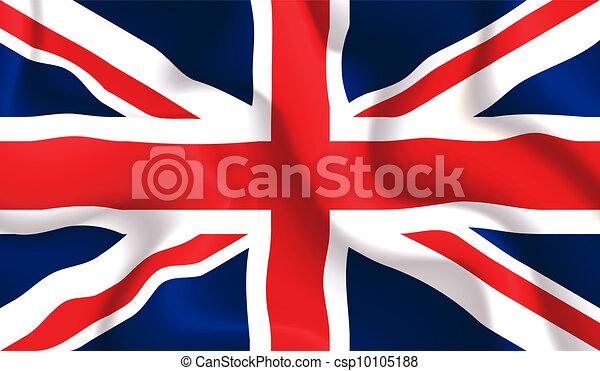 UK waving flag - csp10105188