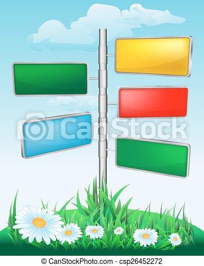 ukazovat, květiny, louka - csp26452272