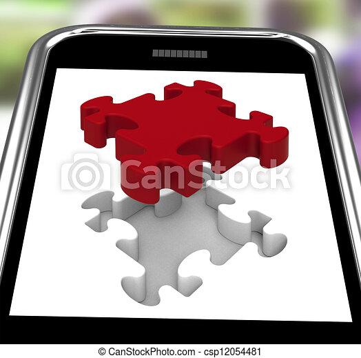 ukończenie, pokaz, smartphone, ostatni kawał - csp12054481