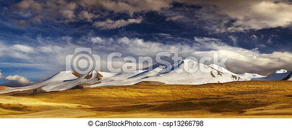 ukok, 風景, 山, プラトー - csp13266798