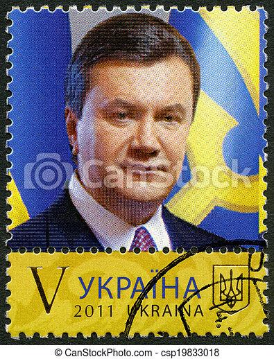 UKRAINE - 2011: shows Viktor Yanukovych - csp19833018