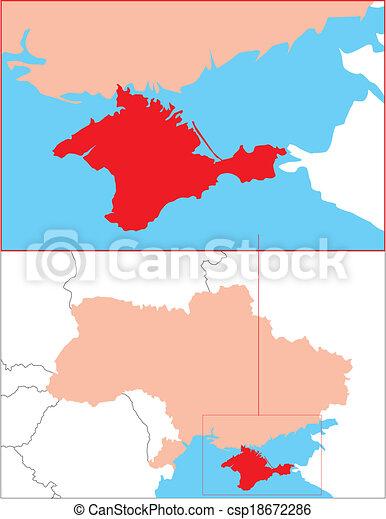 Ukraine Krim Bersichts Karte