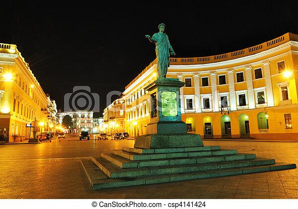 Ukraine, Odessa, statue of Richelieu duke - csp4141424