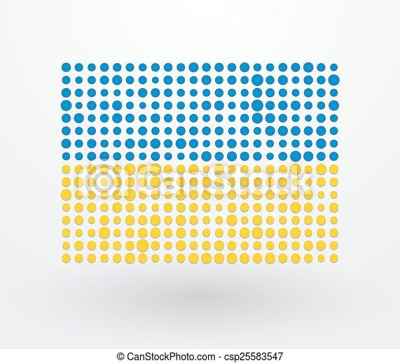 ukraine, petit, drapeau, réconcilié - csp25583547
