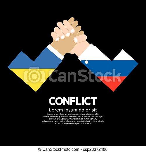 Ukraine VS Russia Arm-Wrestle. - csp28372488