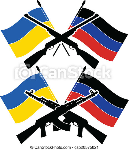 ukrainian civil war vector illustration vector illustration rh canstockphoto com civil war flags clipart civil war flags clipart
