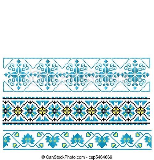Ukrainian embroidery ornament - csp5464669