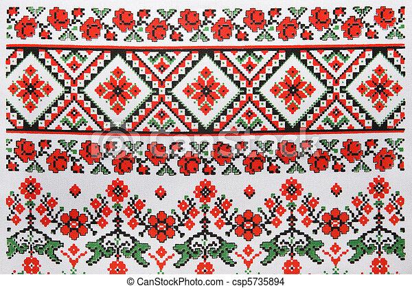Ukrainian embroidery - csp5735894