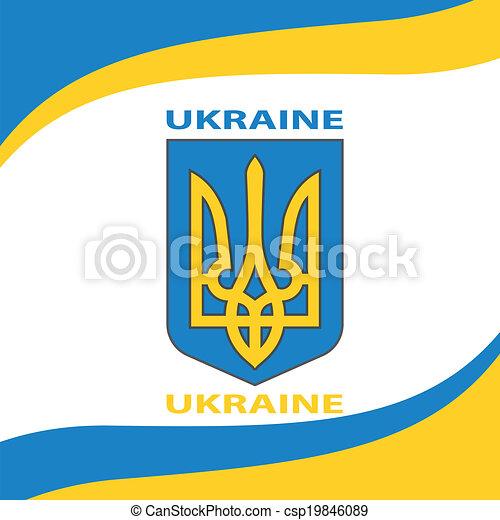 Ukrainian Flag Europe Corporation Logo Symbol Tourism