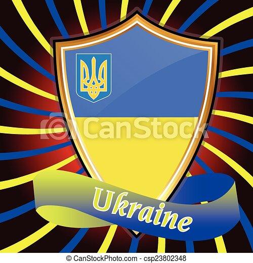 Ukrainian Flag Europe Corporation Logo Symbol Tourism Ukraine