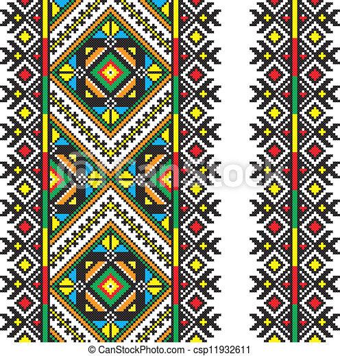 Ukrainian national ornament - csp11932611