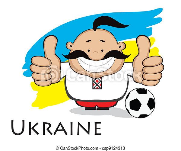 ukrainien, fan., conception, euro, 2012 - csp9124313