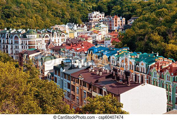 ukrajna, ősz, -, kyiv, főváros - csp60407474
