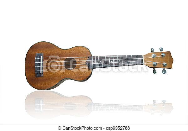 Ukulele guitar on background - csp9352788