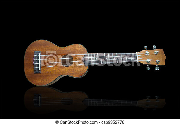 Ukulele guitar on background - csp9352776