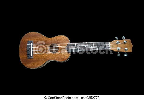Ukulele guitar on background - csp9352779