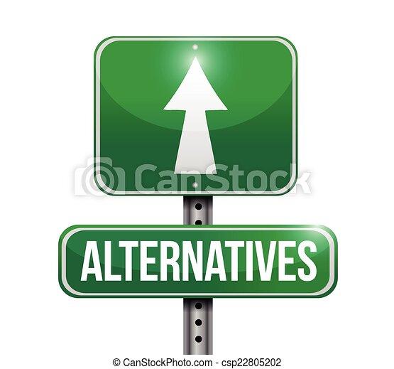 ulica, alternatywy, znak - csp22805202