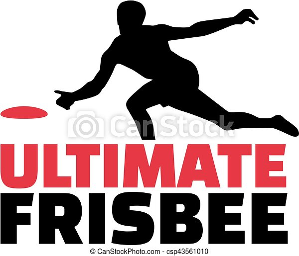 Ultimate frisbee word with player - csp43561010