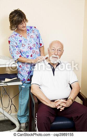 ultraljud, smärta, hals, lättnad - csp3989155