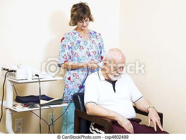 ultraljud, terapi, kiropraktik - csp4802499