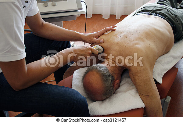 ultraschall, physiotherapie - csp3121457