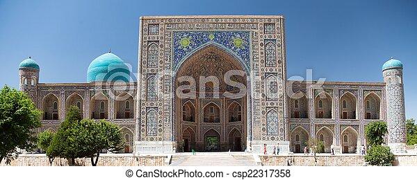 Ulugbek Medressa - Registan - Samarkand - Uzbekistan - csp22317358
