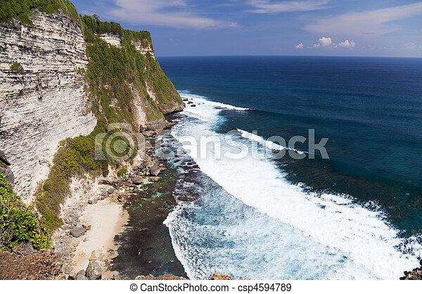 uluwatu, indonesia, scogliere, uluwatu, bali - csp4594789