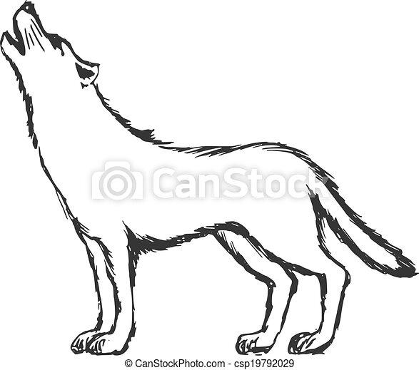 tegninger af ulve