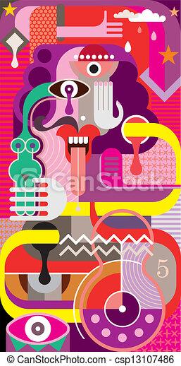 umění, abstraktní, vektor, -, ilustrace - csp13107486