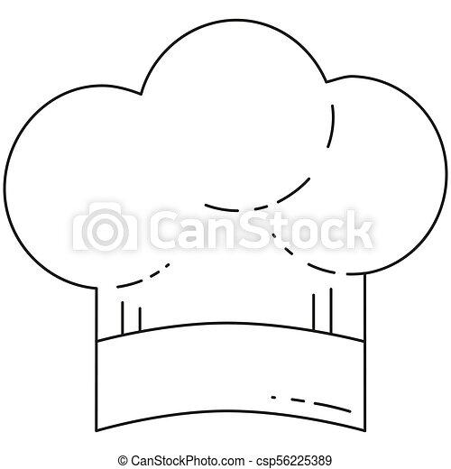 umění, vrchní kuchař, čerň, řádka, klobouk, neposkvrněný - csp56225389