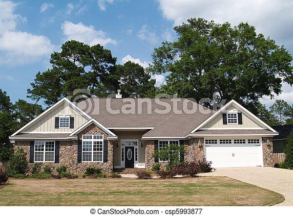 um, lar, história, residencial - csp5993877