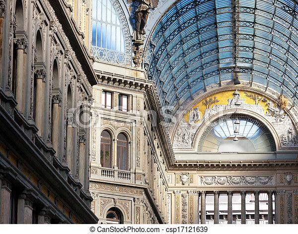 Umberto I gallery in Naples - csp17121639