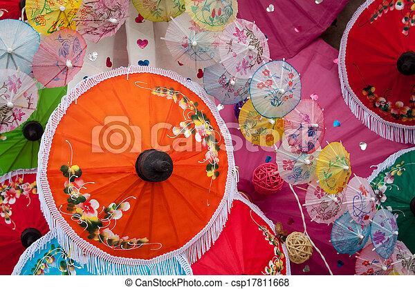 umbrella Arts and crafts - csp17811668