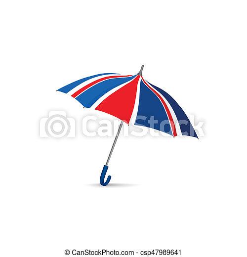 Umbrella., coloreado, estación, bandera inglesa, moda, accessory ...