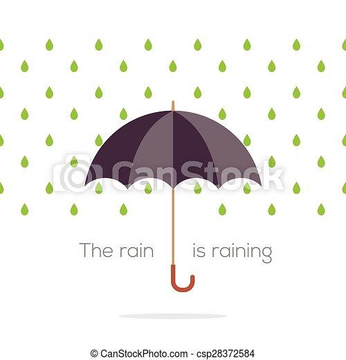 Umbrella In The Rain. - csp28372584