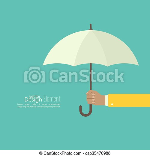 umbrella., mâle, tenant main - csp35470988