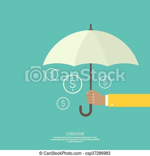 umbrella., mâle, tenant main - csp37286983