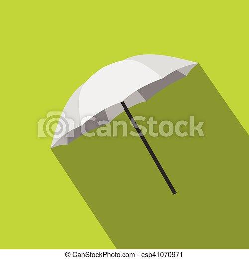 Umbrella photographer icon, flat style - csp41070971