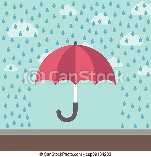 Umbrella protecting against rain - csp39164203