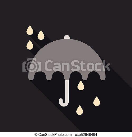 Umbrella rain icon on the background. Vector illustration - csp52648494