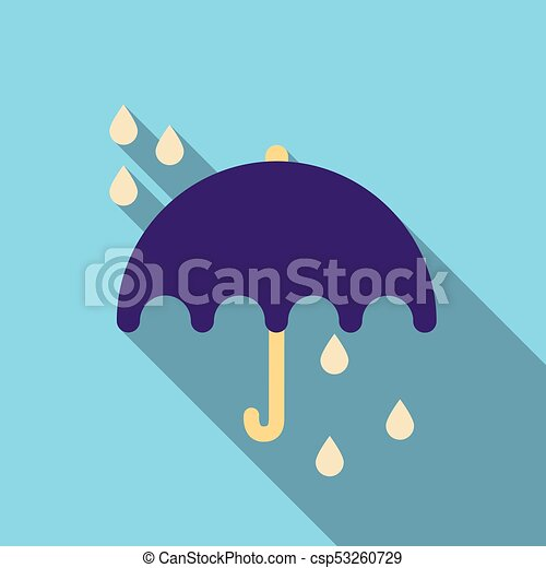 Umbrella rain icon on the background. Vector illustration - csp53260729