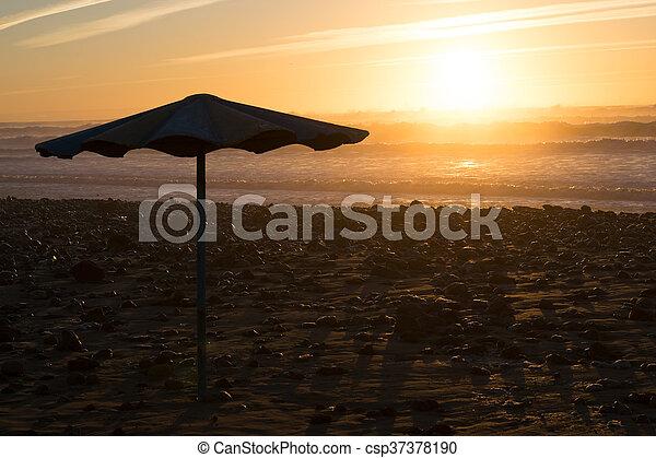 4847880d78 Umbrella sunset beach